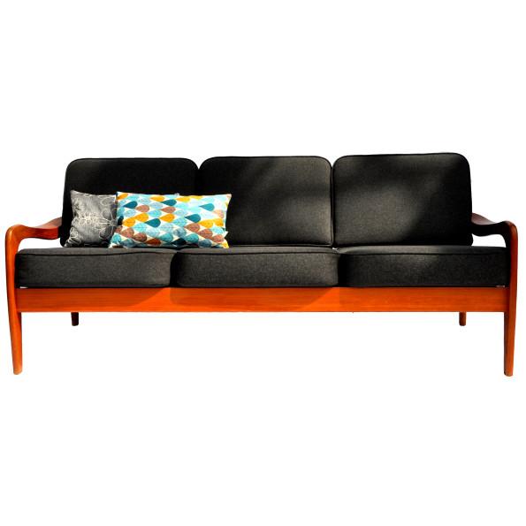 """-VERKAUFT- 3er Teak Sofa """"Komfort"""" -SOLD-"""